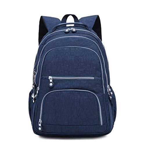 School Backpack for Teenage Girl Feminina Women Backpacks Nylon Waterproof Casual Laptop Backpack Female,Deep Blue,