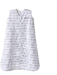 Sleepsack Cotton Wearable Blanket, Squares and Triangles, Grey, Large