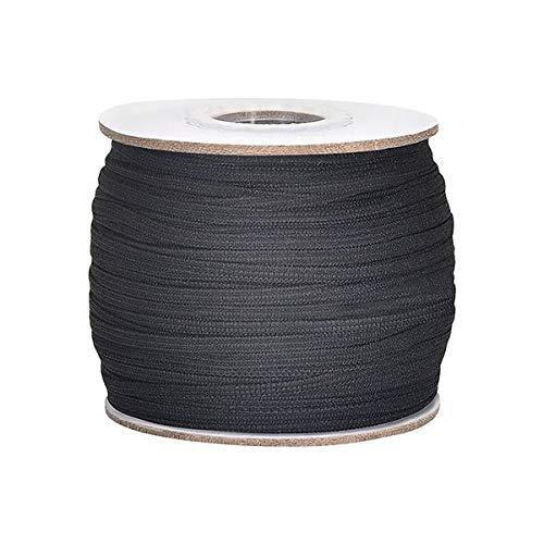 """XHJKZ 100 Yards Elastic Band for Sewing 1/4"""" (6mm) Elastic Cord Heavy Stretch High Elasticity Knit for Sewing Crafts DIY Bedspread Cuff Braided Elastic Rope Elastic Spool Elastic String"""