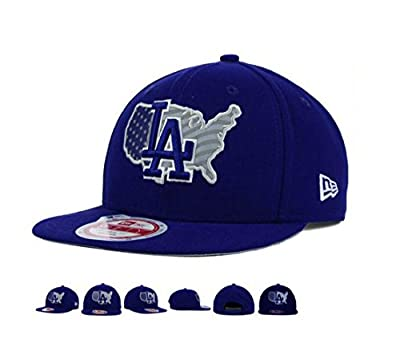 Los Angeles Dodgers USA Reflective Logo Snapback Adjustable One Size Fits All Hat Cap