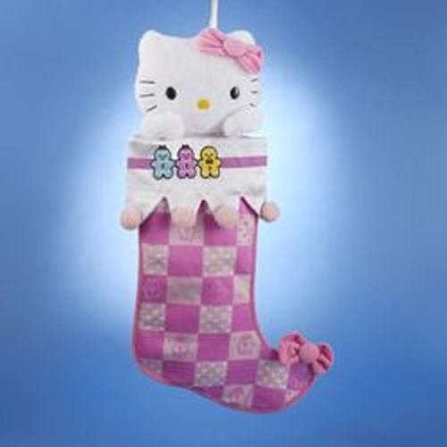 Kurt Adler Hello Kitty Pink Plush Head Stocking, 19-Inch