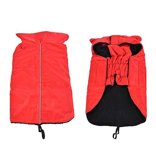 (RSHSJCZZY Pet Windproof Waterproof Coats Reversible Reflective Soft Costumes Dog)