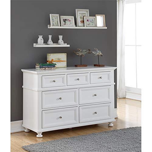 building blocks Ava 7 Drawer Double Dresser in White