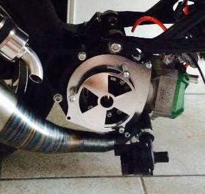Easyboost Copri Coperchio Volano Accensione Yamaha Aerox Jog R MBK Nitro Mach G Minarelli Orizzontale Tutti i Modelli Fatto in Francia Ideato per le Corse Proteggono il Rotore Interno Esterno