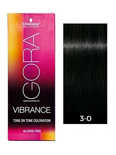 Schwarzkopf Professional Igora Vibrance Demi-Permanent Tone on Tone Hair Color (3-0 Dark Brown Natural)