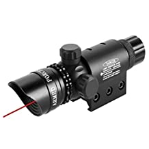 mbmah Vista Red Dot Laser Vista sistema por Armamento – 5 mW 650 nm Tactical Red Dot Laser con Picatinny Rail Mount Barril Interruptor y incluye cargador y la batería