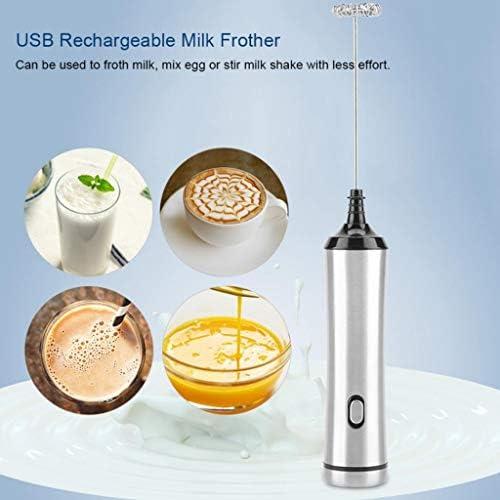Zyj Latte Elettrico Ricaricabile Frother Latte Foamer for Cappuccino caffè Schiuma Frullino
