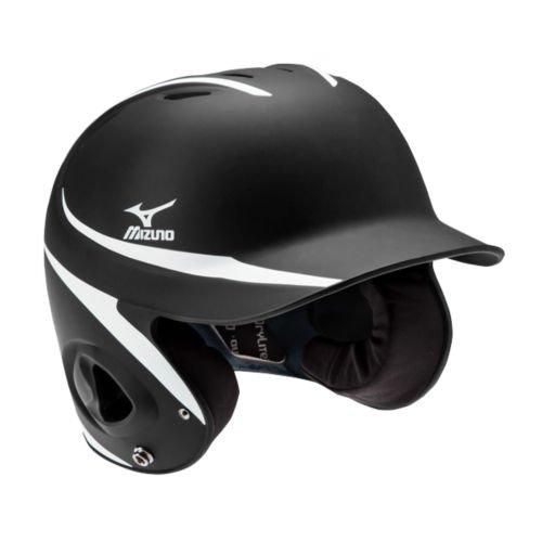 Mizuno Mvp G2 Batters Helmet  Black White  Adjustable Size