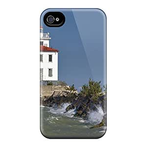 Fashion Protective Fairport Harbor Lighthouse Case Cover For Iphone 4/4s