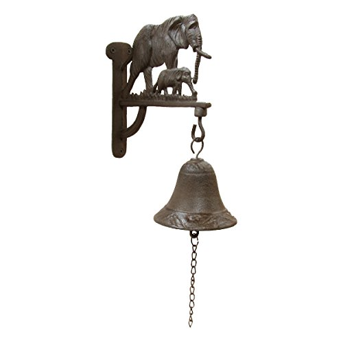 Metal Wall Mount Elephant w/ Calf Welcome/Dinner Bell