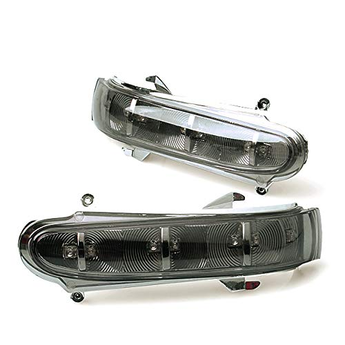 Pair Smoke LED Side Mirror Turn Signal Light Blinker Fit for 1999-2002 MERCEDES W220 S320 S430 ()