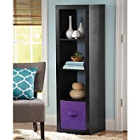 Versatile Better Homes and Gardens 4-Cube Organizer, Solid Black