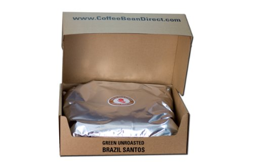 Green Unroasted, Brazil Santos, 25-Pound by Coffee Bean Direct