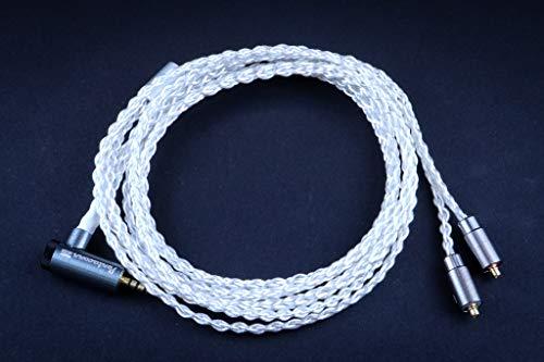 [해외]PENNTACONN RE-CABLE (ペンタコン リケ?ブル) Φ 2.5 ⇒ MMCX OFC 실버 코트 케이블 / PENNTACONN RE-CABLE Φ2.5⇒MMCX OFC Silver Coated Cable