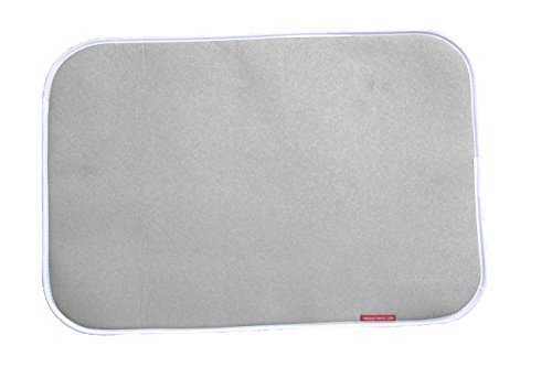 (THEQUILTMATE - Premium Ironing Pad, Designed Especially for Quilters and Crafters, Classic, Silver, 17 in x 25 in)