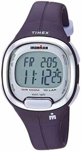 3bbdce426 Timex Women's TW5M19700 Ironman Transit Mid-Size Purple/Silver-Tone Resin  Strap Watch