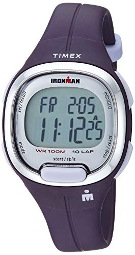 Timex Women's TW5M19700 Ironman Transit Mid-Size Purple/Silver-Tone Resin Strap Watch (Timex For Ironman Watch Girls)