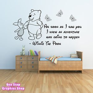 1Stop Graphics   Shop Winnie The Pooh Wall Sticker 3   Girls Boys Baby  Bedroom Quote Part 24