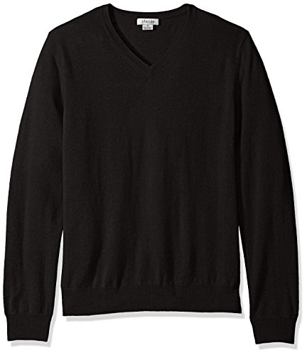 Phenix Cashmere Men's 100% V-Neck Sweater, Black, - Sweater 100% Cashmere Black