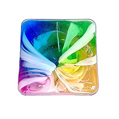 Onegirl Beautiful Rainbow Crystal Slime Scented DIY Mixing Clear Cloud Mud Toy 150ml, Kids Adult Slime Supplies Scented Sludge Toy Stress Relief Cloud Mud Clay Decompression Toys (150ml Multicolor)