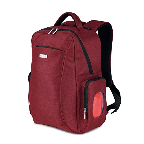 Gran armario tipo cambio mochila momia pañal bolsa portátil bolsa bolsa de aislamiento Enfermería bebé + Pañales Pad + bolsa de pañales + cochecito gancho colgador + caja para toallitas húmedas rosa r rosso