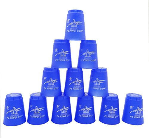 Quick Stack Cups - Set of 12 Sport Stacking Cups - By Coerni (Blue)