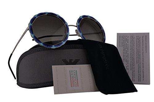 Emporio Armani EA2054 Sunglasses Silver Blue w/Grey Gradient Lens 55mm 301511 EA - Armani Www.emporio
