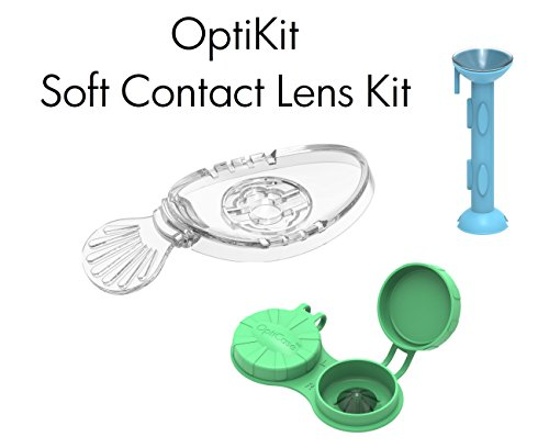 OptiKit - 1 OptiWand - soft contact lens insertion & removal tool + 1 OptiAide Eye drop applicator + 1 OptiCase eye shaped contact lens - Lenses How From To Sunglasses Remove
