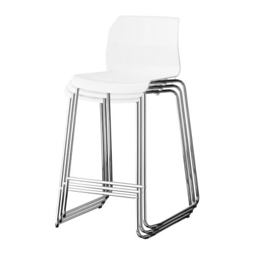 Ikea Maison De Tabouret Glenn BarBlancChroméCuisineamp; wON8yv0mn