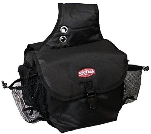 Showman Nylon Cordura Insulated Saddle Bag with Buckle Closure (Black)