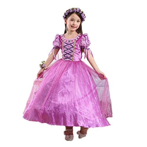 DreamHigh Girls Halloween Princess Rapunzel Costume Dress Size 5-6 (Info About Halloween Costumes)