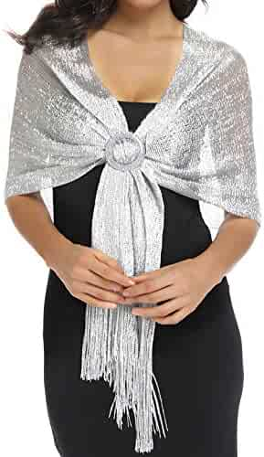 531396d0bf6c1 Rheane Sparkling Metallic Shawls and Wraps for Evening Party Dresses