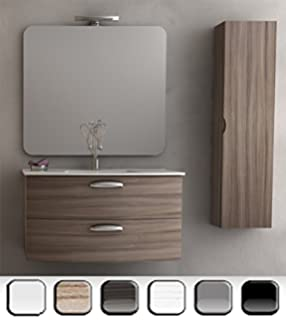 mobile arredo bagno 100cm sospeso moderno lavabo disp. in 30 ... - Mobile Arredo Bagno Sospeso