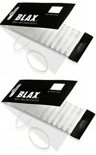 Blax Clear Snag-Free Hair Elastics - 4mm 2 Pack…… by Blax