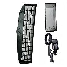 "CanadianStudio Pro 14""x56"" Strip Soft box Studio Photo Softbox for Canon Nikon Speedlite flashes hotshoe mount bracket"