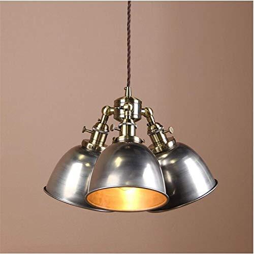 Lustre suspendu pendentif 3 luminaires, luminaire de lampe de plafonnier d'îlot de cuisine (vernis)