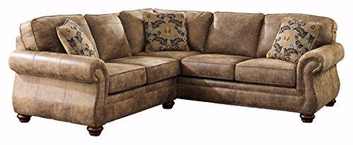 Ashley Furniture Signature Design - Larkinhurst 2-Piece Sectional - Left Arm Facing Sofa & Right Arm Facing Loveseat - Earth