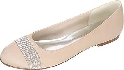 b0a1f0ef Find Nice - Sandalias con cuña de Satén Mujer, Color Gris, Talla 42:  Amazon.es: Zapatos y complementos