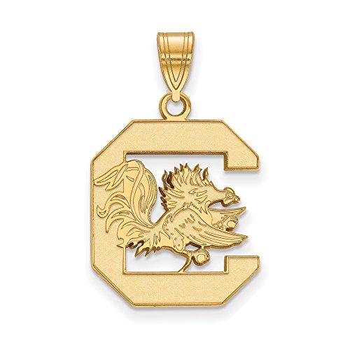South Carolina Large (3/4 Inch) Pendant (10k Yellow Gold) by LogoArt