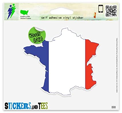 France Map Flag.Amazon Com France French Map Flag Vinyl Car Bumper Window Sticker 2