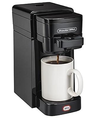 Proctor-Silex FlexBrew SingleServe Coffeemaker Ground & K-Cup Compatible   49961