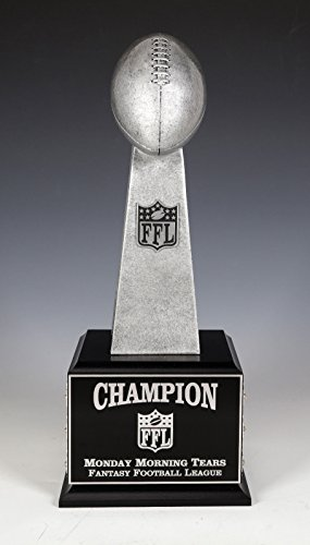 Fantasy Football Perpetual Trophy Lombardi Replica 12 Year Glazed Finish (Perpetual Base)