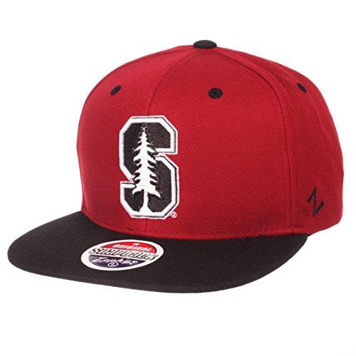 Zephyr NCAA Stanford Cardinal Men's Z11 Static Snapback Hat, Adjustable, Black/Team Color