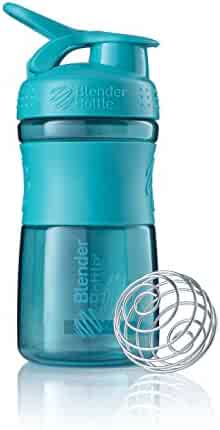 BlenderBottle SportMixer Tritan Grip Shaker Bottle, Teal/Teal, 20-Ounce