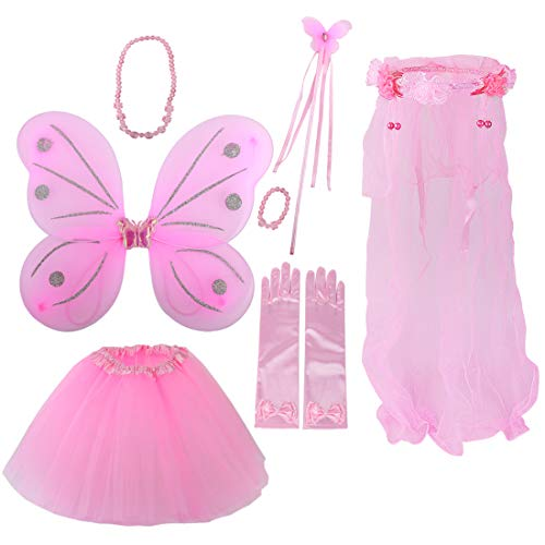 (kilofly Princess Party Favor Butterfly Fairy Costume Dress Up Role Play Value)