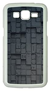 Samsung Galaxy Grand 2 Case - Dual Multi Screen PC Hard Case Cover For Samsung Galaxy Grand 2 / Samsung Galaxy 7106 - White