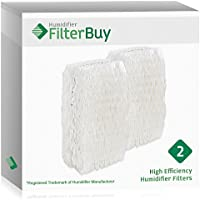 FilterBuy Replacement Humidifier Filters for AC-813 Duracraft. Compatible with Duracraft Humidifier models DH830, DH832, HC832. Pack of 2.