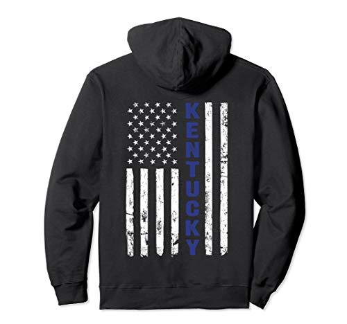 (Kentucky Police Hoodie, Thin Blue Line Kentucky State Shirt)