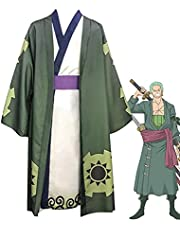 Een stuk Roronoa Zoro Cosplay Anime Kostuum Unisex Japanse Kimono Overjas Set