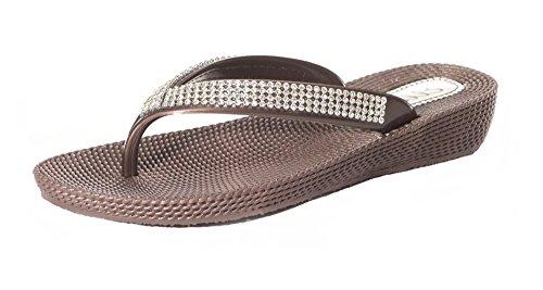 Ubershoes - Sandalias de vestir de Material Sintético para mujer marrón